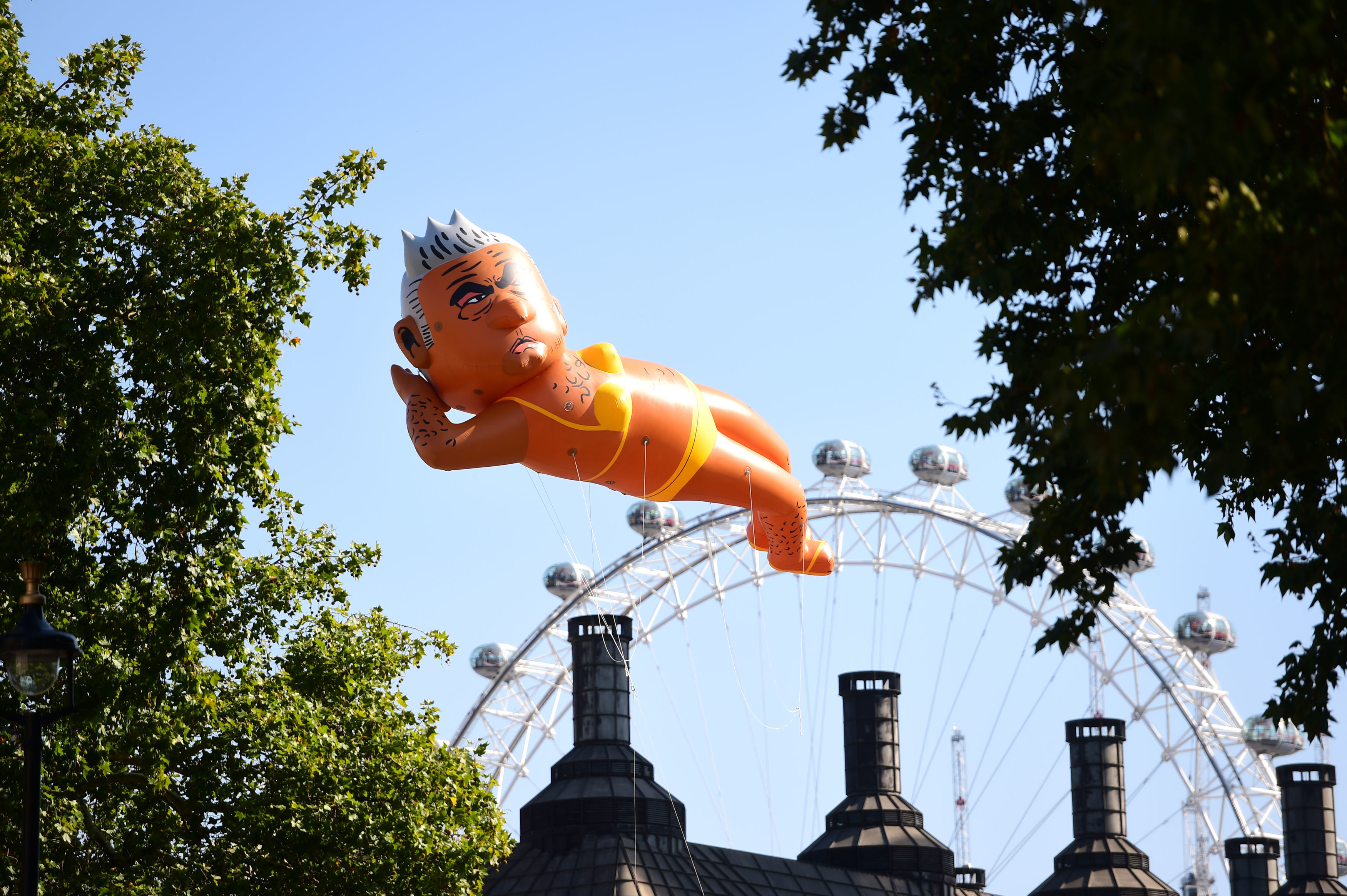 Balloon poking fun at Mayor Sadiq Khan flies over London