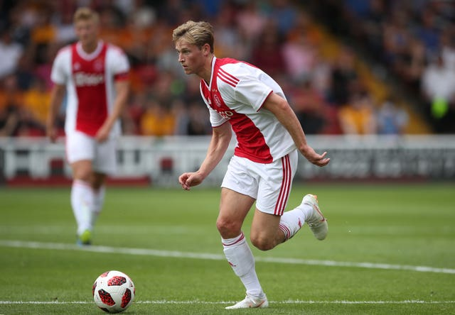 Ajax's Frenkie de Jong has also been linked with City