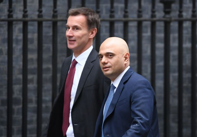 Jeremy Hunt and Sajid Javid