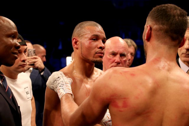 James DeGale (right) retired after defeat to Chris Eubank Jr