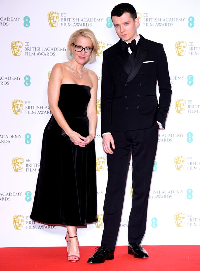 Gillian Anderson and Asa Butterfield