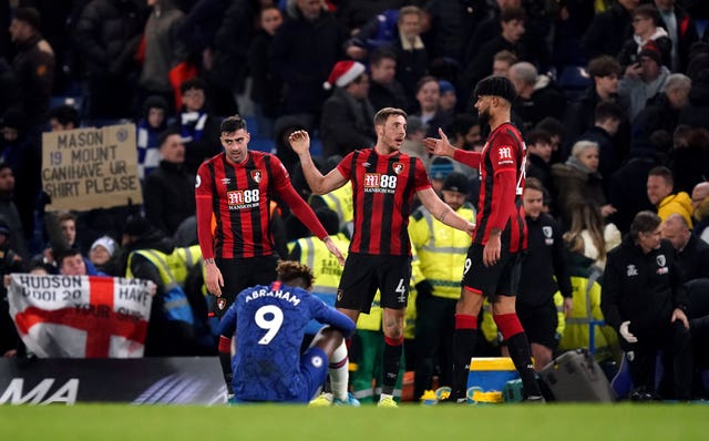 Bournemouth celebrate their victory