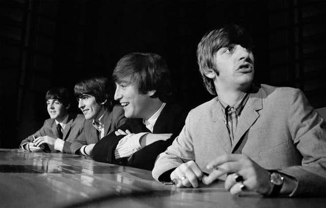 The Beatles at a press conference ahead of a concert in Washington (Mike Mitchell/Omega Auctions)