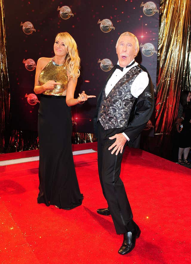 Tess Daly and Sir Bruce presented Strictly together