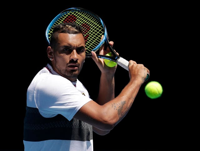 Nick Kyrgios was impressed by his view of Roger Federer from the commentary box