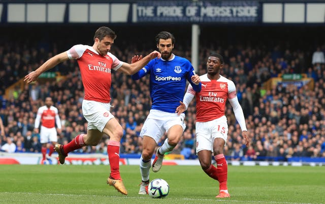 Arsenal were beaten 1-0 at Goodison Park