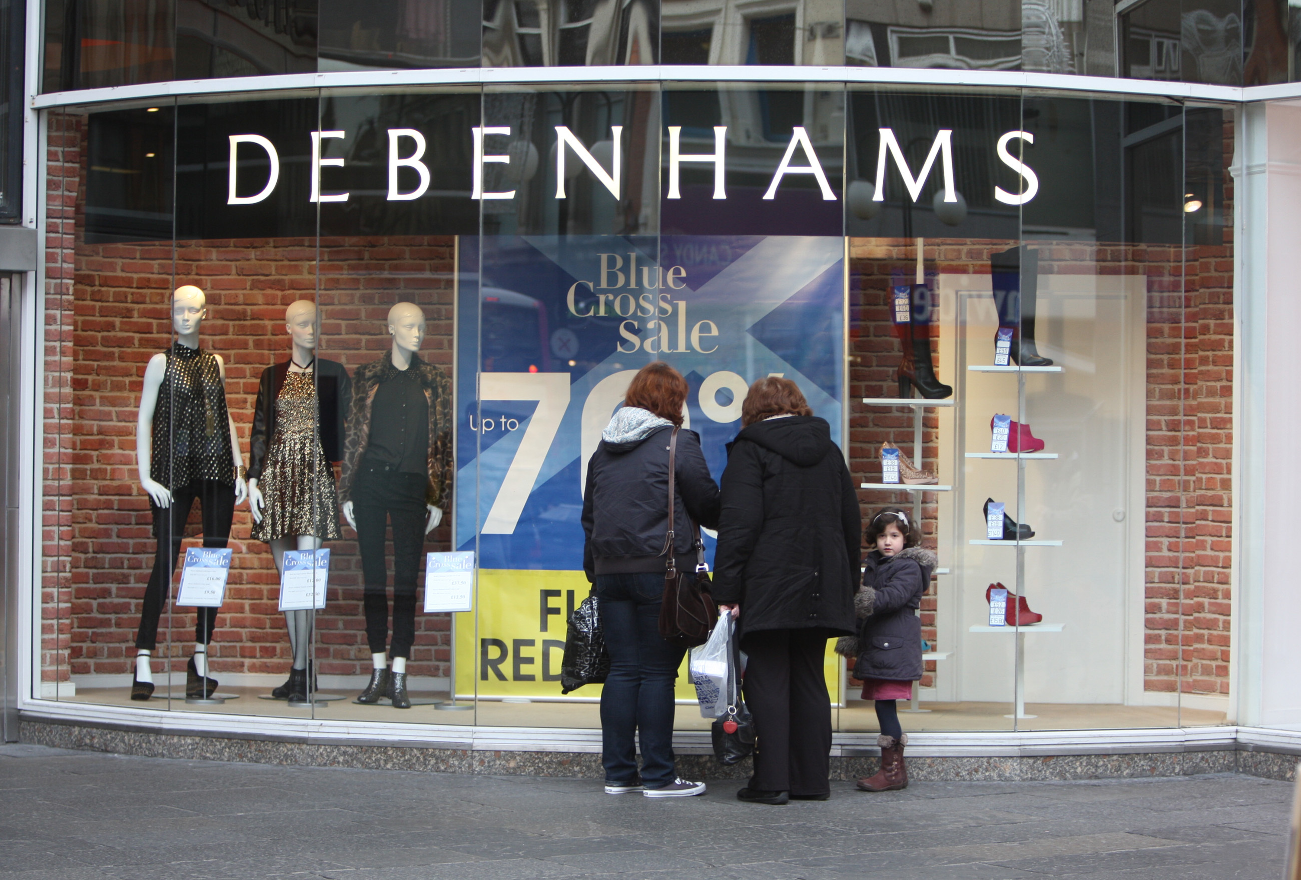 Sports Direct Mulls GBP61.4 Million Debenhams Takeover Offer