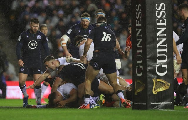 Ellis Genge scored a try in England's win over Scotland