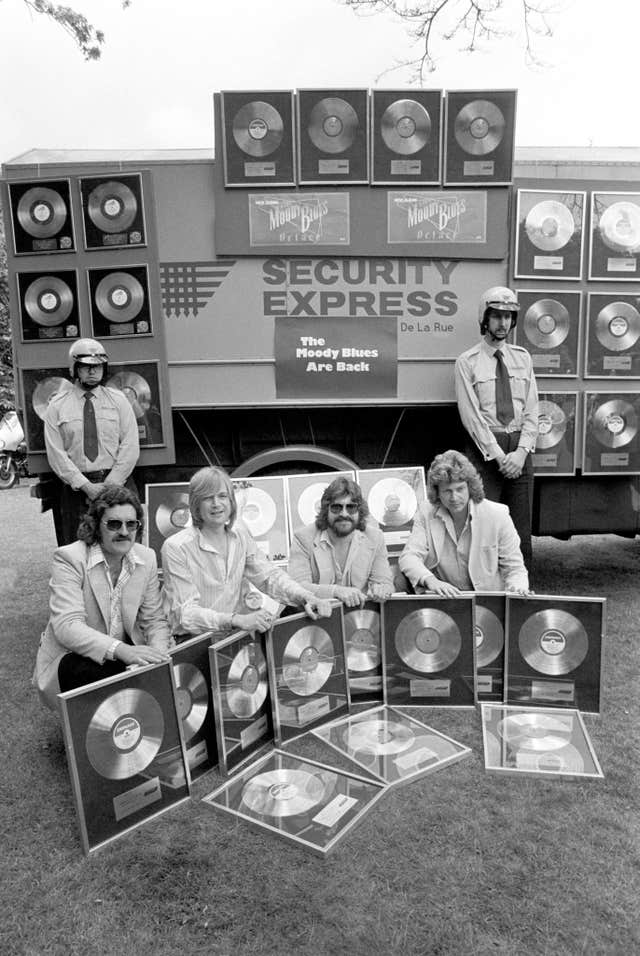 Music – Moody Blues Collect their Platinum – 1978