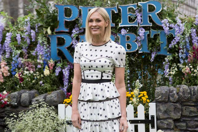 Jenni Falconer poses at the Peter Rabbit premiere (Rick Findler/PA)
