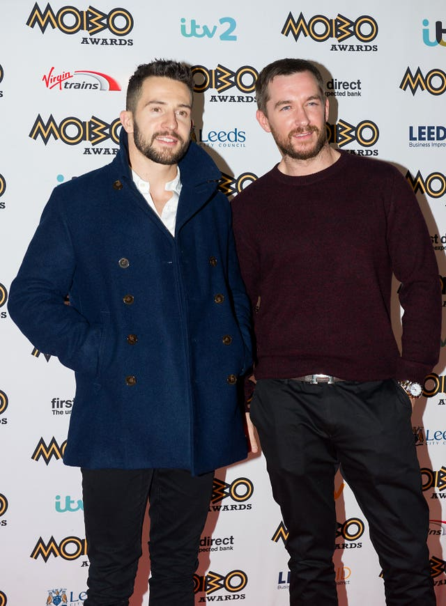 Emmerdale actors Michael Parr and Anthony Quinlan.