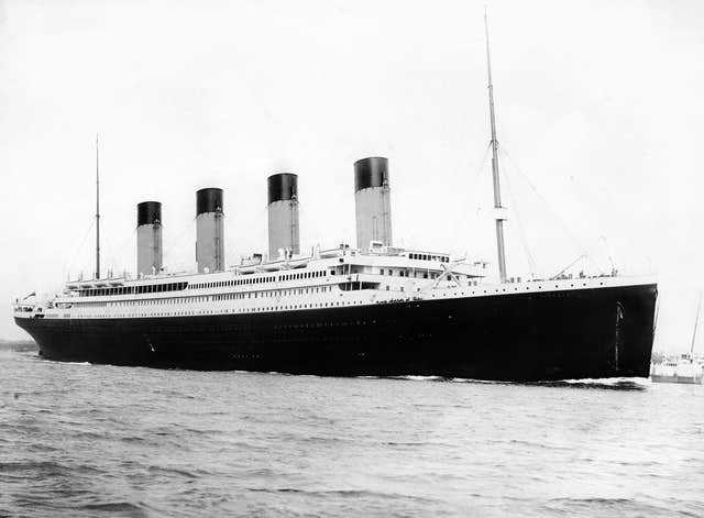 A photograph of the RMS Titanic