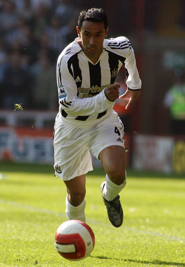 Nolberto Solano during his playing days with Newcastle