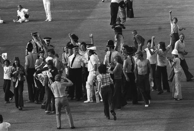 England opener Geoffrey Boycott scored his 100th first-class century on his home ground in that victory in 1977, sparking huge celebrations from the Headingley crowd