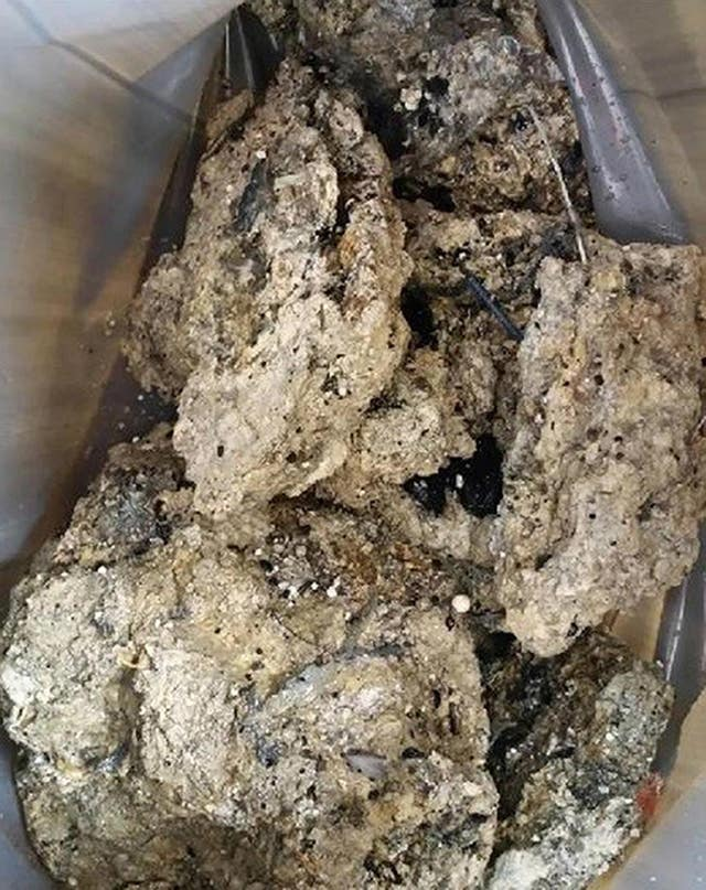 Part of the Whitechapel fatberg (Thames Water)