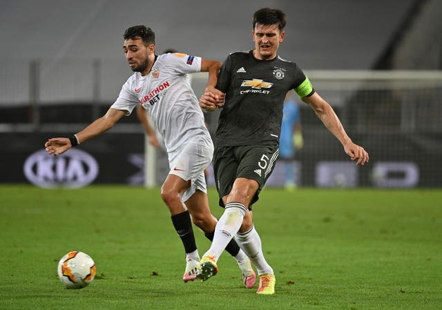 Harry Maguire played in the Europa League semi-finals against Sevilla last Sunday