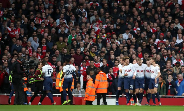 Dier's goal celebration sparked a mass brawl at Arsenal