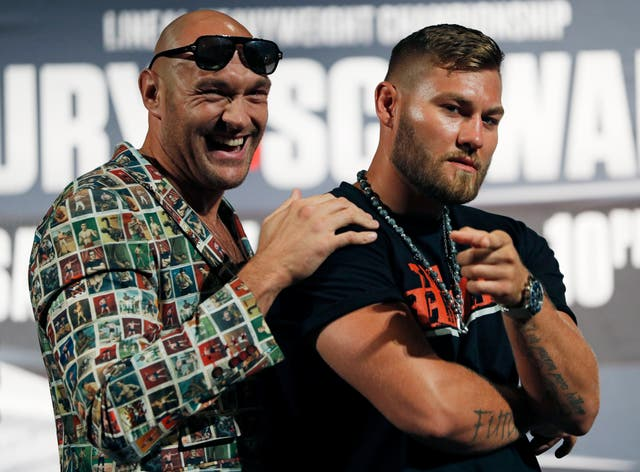Tyson Fury will fight Tom Schwarz on Saturday night