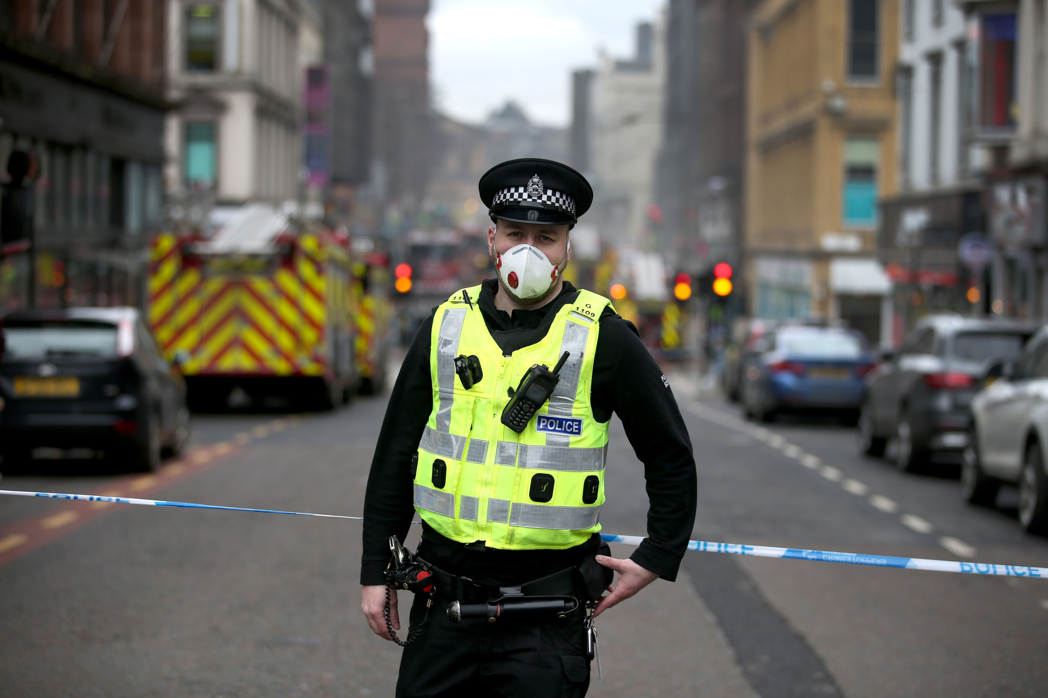 Firefighters say they'll stay at Glasgow blaze 'as long as it takes'
