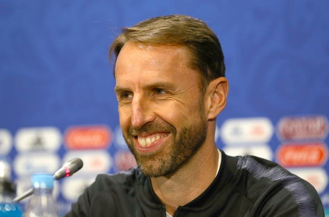 England manager Gareth Southgate during the press conference at the Luzhniki Stadium, Moscow
