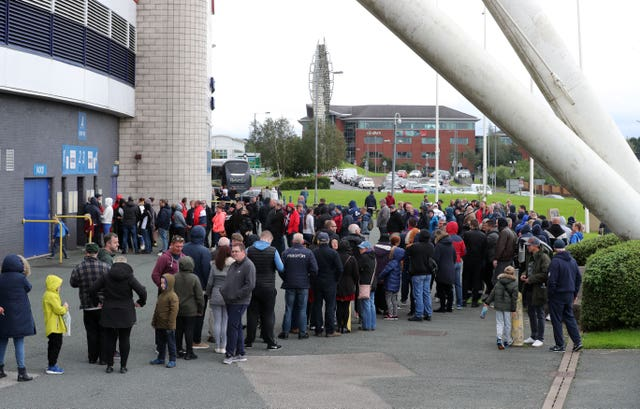 There were long queues outside the stadium as Bolton began life under new ownership