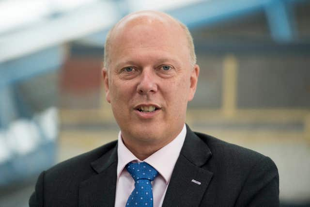 Transport Secretary Chris Grayling (Victoria Jones/PA)