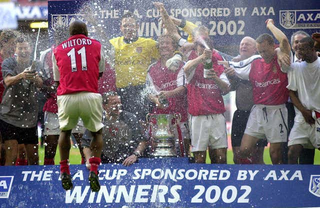 The Gunners won the FA Cup for a seventh time when they beat Chelsea 2-0 in the 2002 final