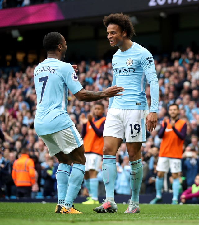 Raheem Sterling and Leroy Sane are part of a impressive group of youngsters at City
