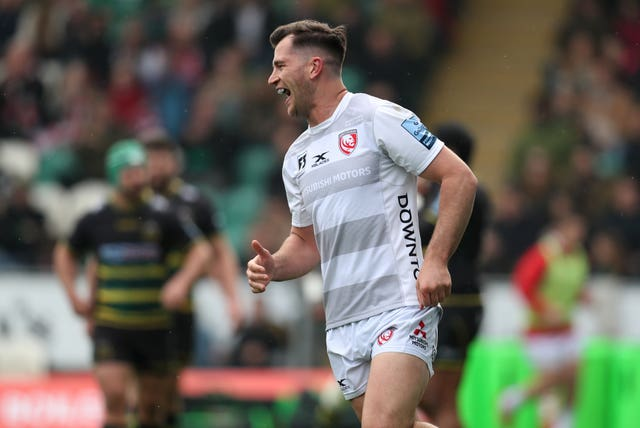 Mark Atkinson scored a first-half hat-trick at Franklin's Gardens