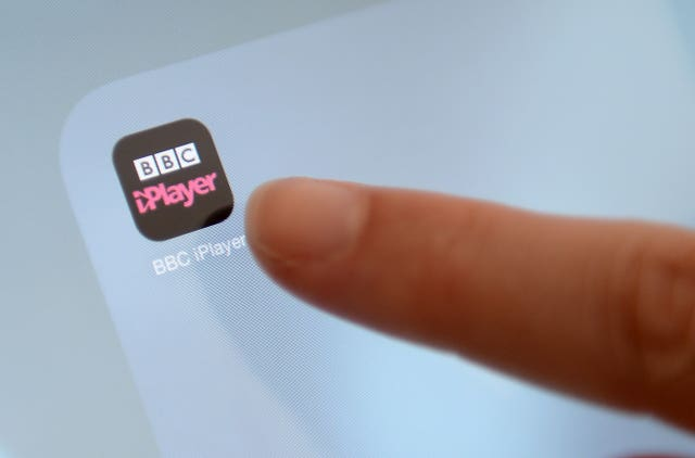 BBC iPlayer app button on a smartphone