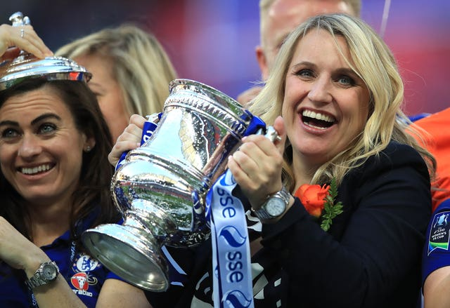 Emma Hayes has led Chelsea Women to a series of successes, including two league and cup doubles