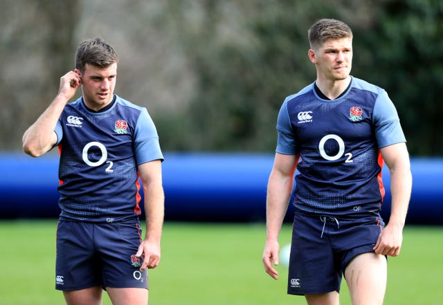 George Ford, left, and Owen Farrell will start on Sunday