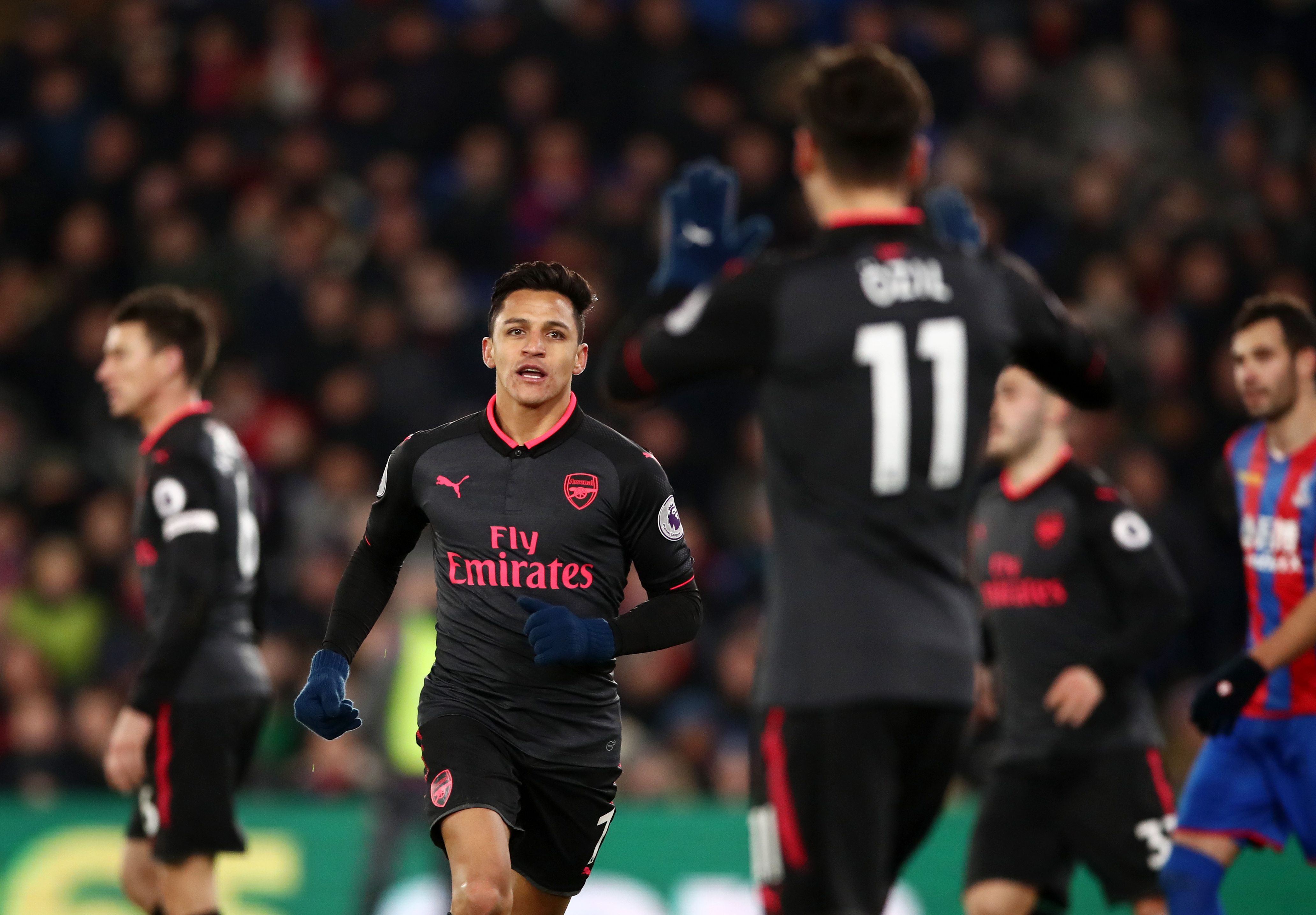 Thierry Henry spotted something worrying about Sanchez's celebration v Palace