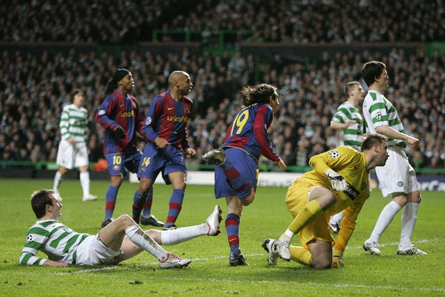 A shaggy-haired Messi made Celtic his first British victims (Andrew Milligan/PA).