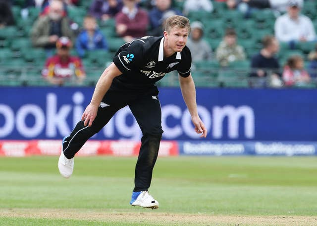 James Neesham underpinned victory for New Zealand (Mark Kerton/PA)
