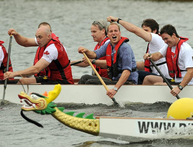 William during dragon boat race
