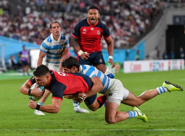 Ben Youngs was among the scorers as England saw off Argentina at Tokyo Stadium.