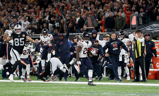 The Chicago Bears and the Oakland Raiders went head to head in the NFL International Series at Tottenham Hotspur Stadium.