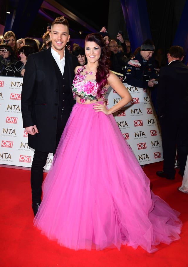 Matt Terry and Saara Aalto arriving at the National Television Awards in 2017