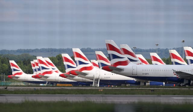 British Airways planes were grounded due to the coronavirus outbreak