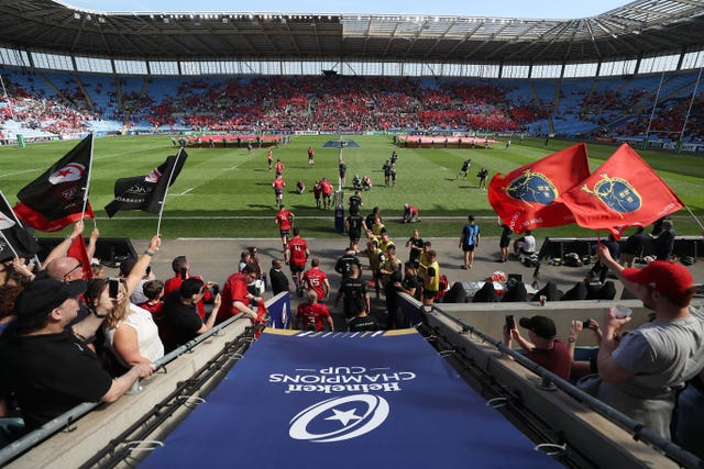 Munster were well supported at the Ricoh Arena