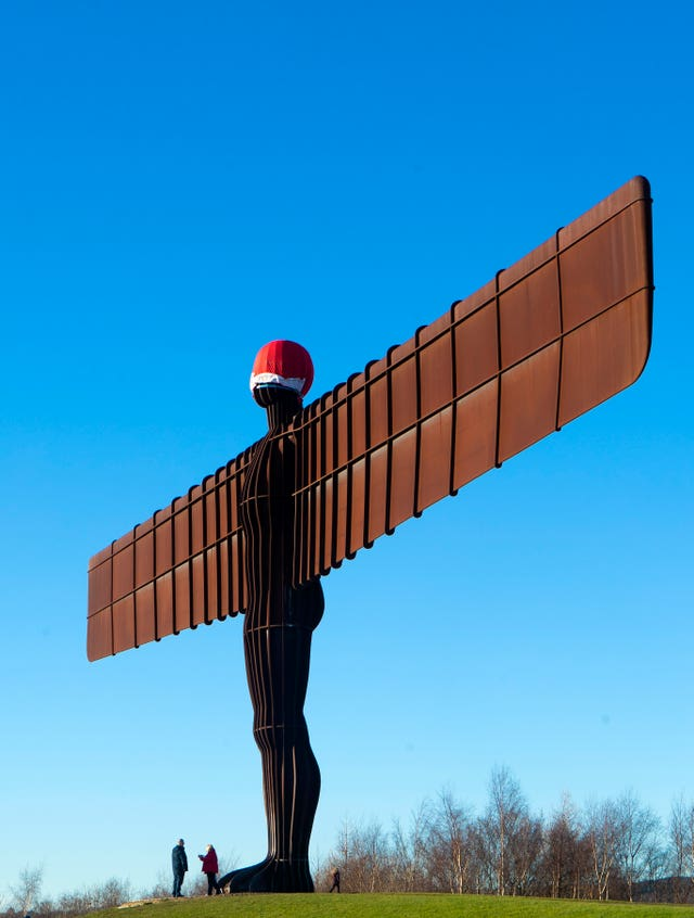 Santa hat of the Angel of the North