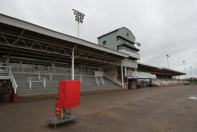 Grandstands in Britain have been empty since racing was brought to a halt by equine flu