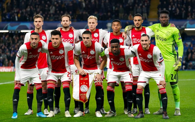 Donny Van De Beek (back row, third from left) came through the renowned Ajax youth system