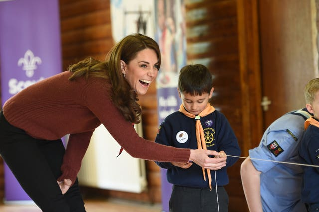 Kate joined in various activities during her visit