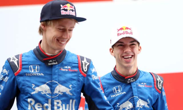 Brendon Hartley (left) and Pierre Gasly will lead Toro Rosso's 2019 bid
