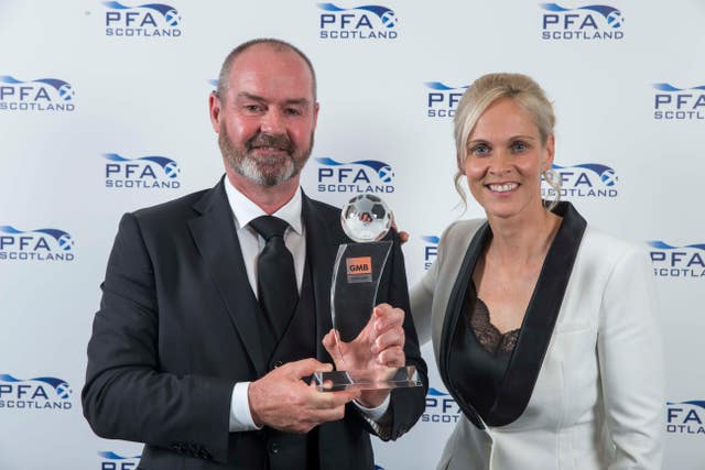 PFA Scotland manager of the year Steve Clarke and Shelley Kerr are both on the shortlist