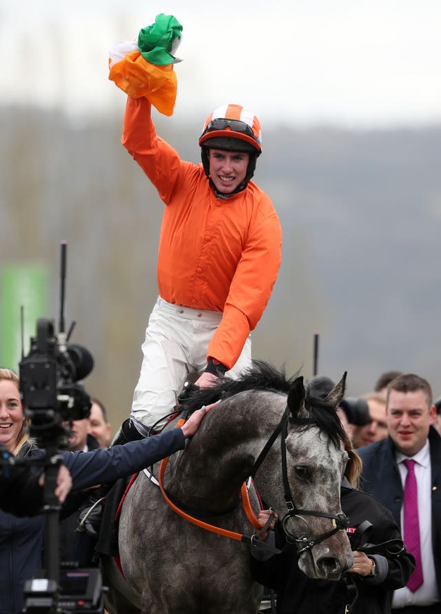 Jack Kennedy in winning action at Cheltenham this year