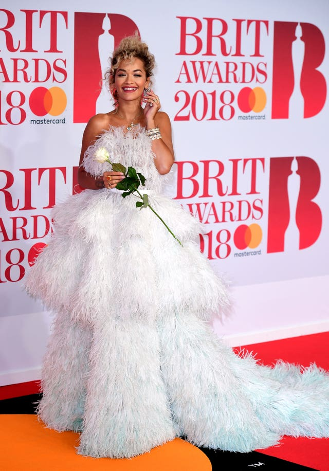 Rita Ora took the red carpet by storm... (Ian West/PA)