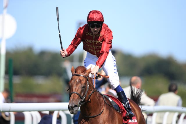 Lightning Spear won his first Group One in the Sussex Stakes at Goodwood during the summe